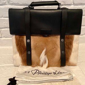 3.1 Phillip Lim Lasso Backpack With Springbok Fur